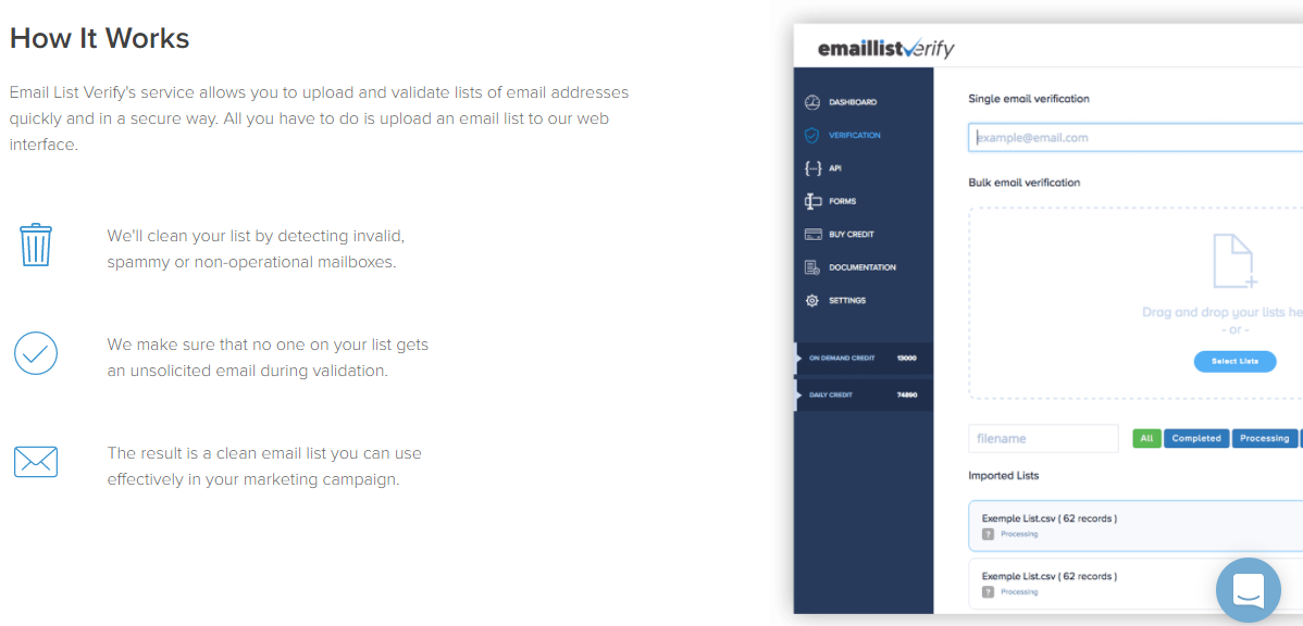 Email List Verify Review - How it works