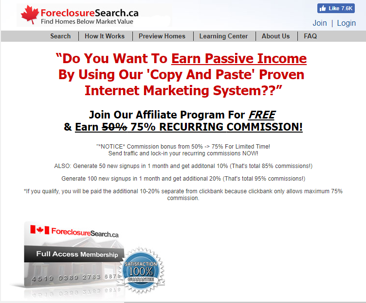 ForeclosureSearch ca Affiliate Program