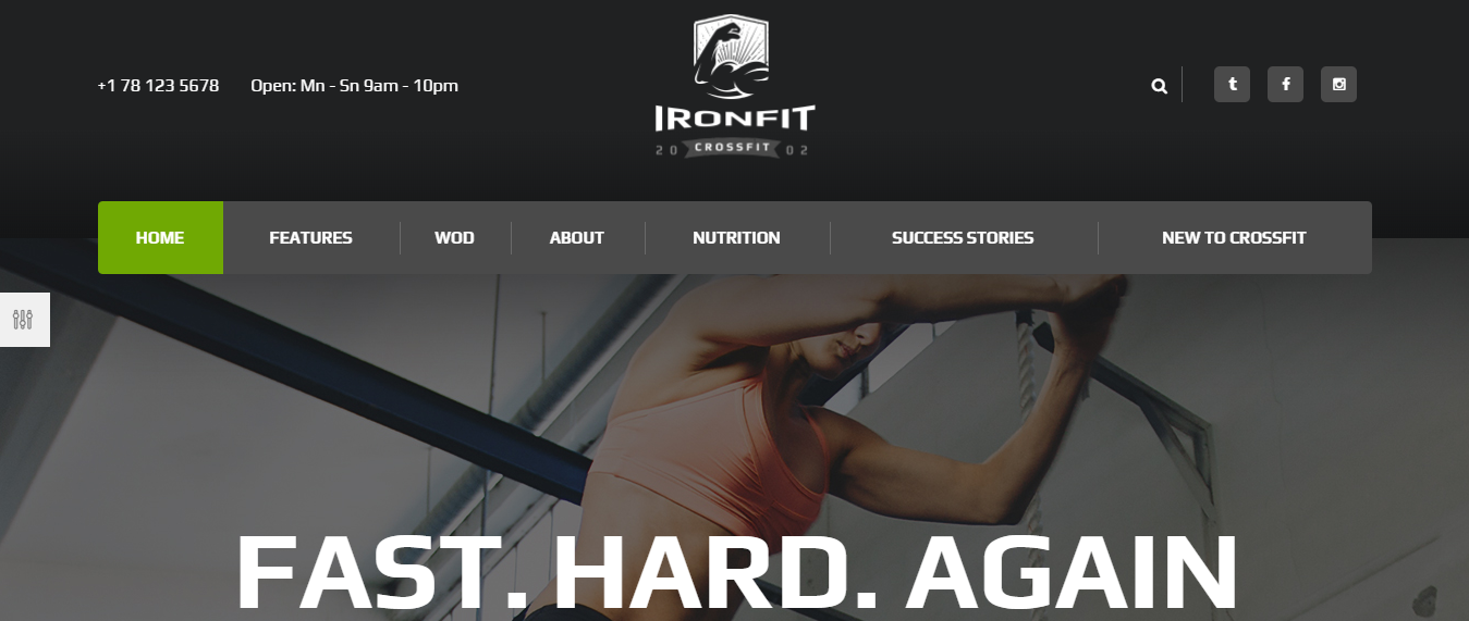 Ironfit Crossfit - WordPress Sports Theme