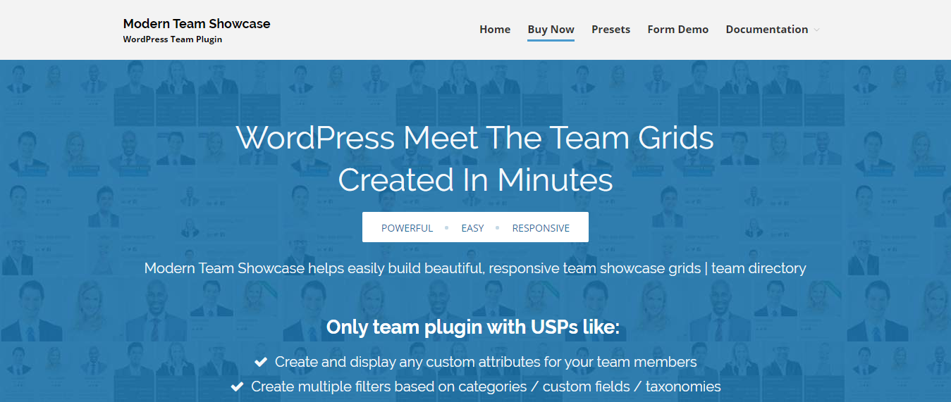 Modern Team Showcase - Team Management WordPress Plugin