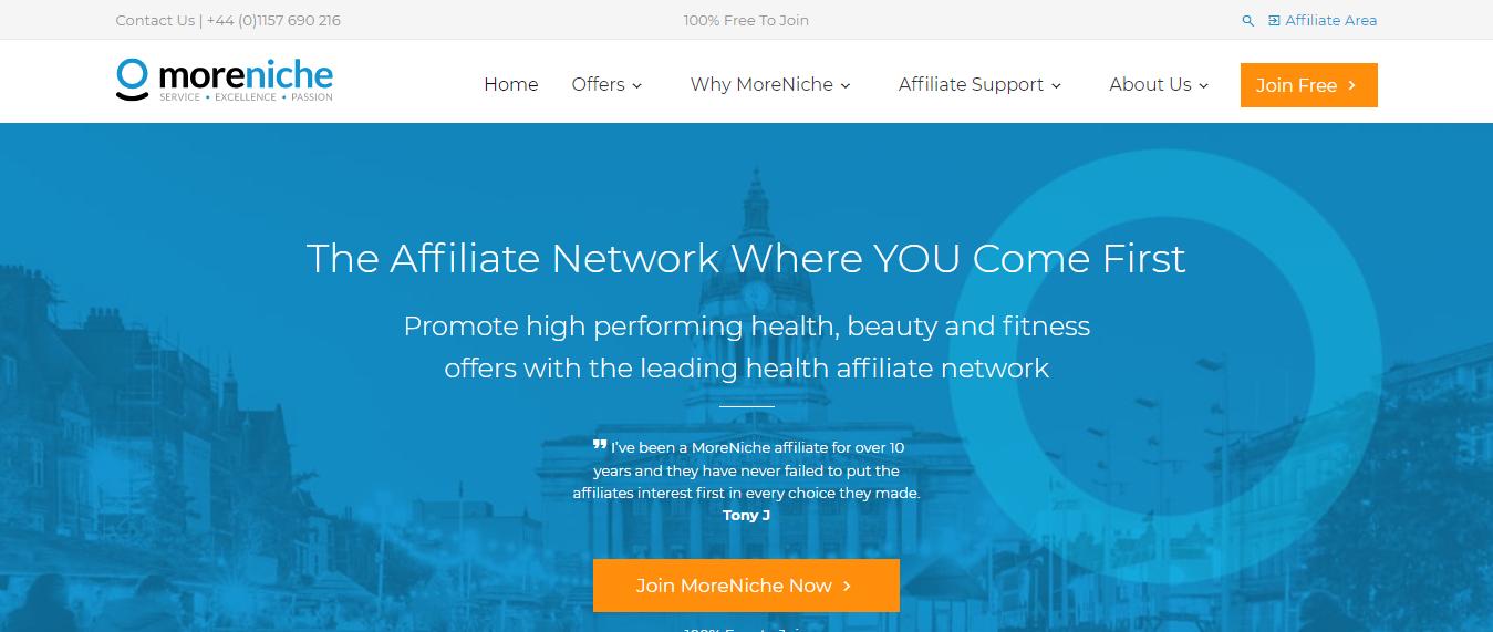 MoreNiche Affiliate Network The Leading Health Affiliate Program