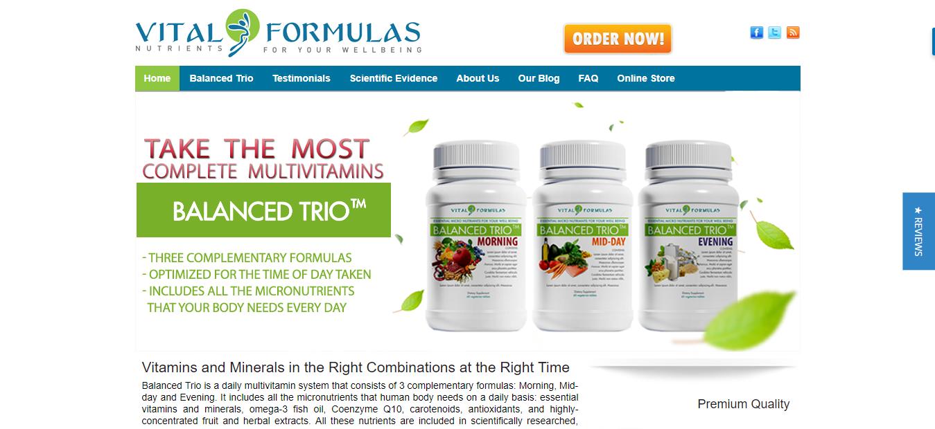 Natural health affiliate - Vital Formulas