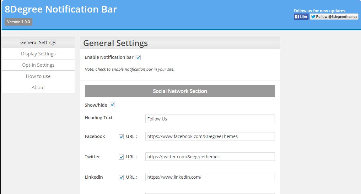 Notification Bar WordPress Plugin