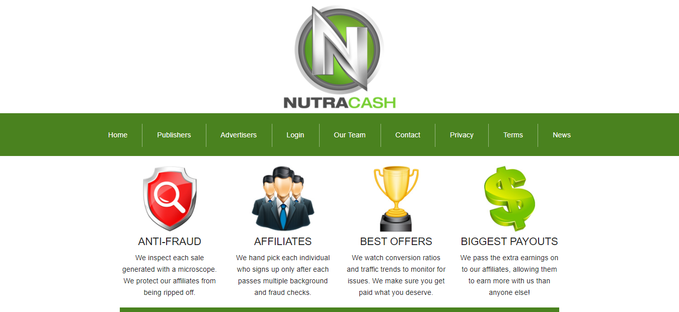 NutraCash Trial Nutra Offers for Affiliates and Publishers
