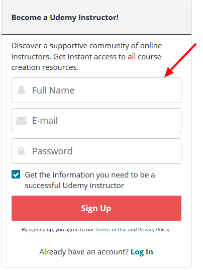 Udemy Sign Up - Make Money From Udemy