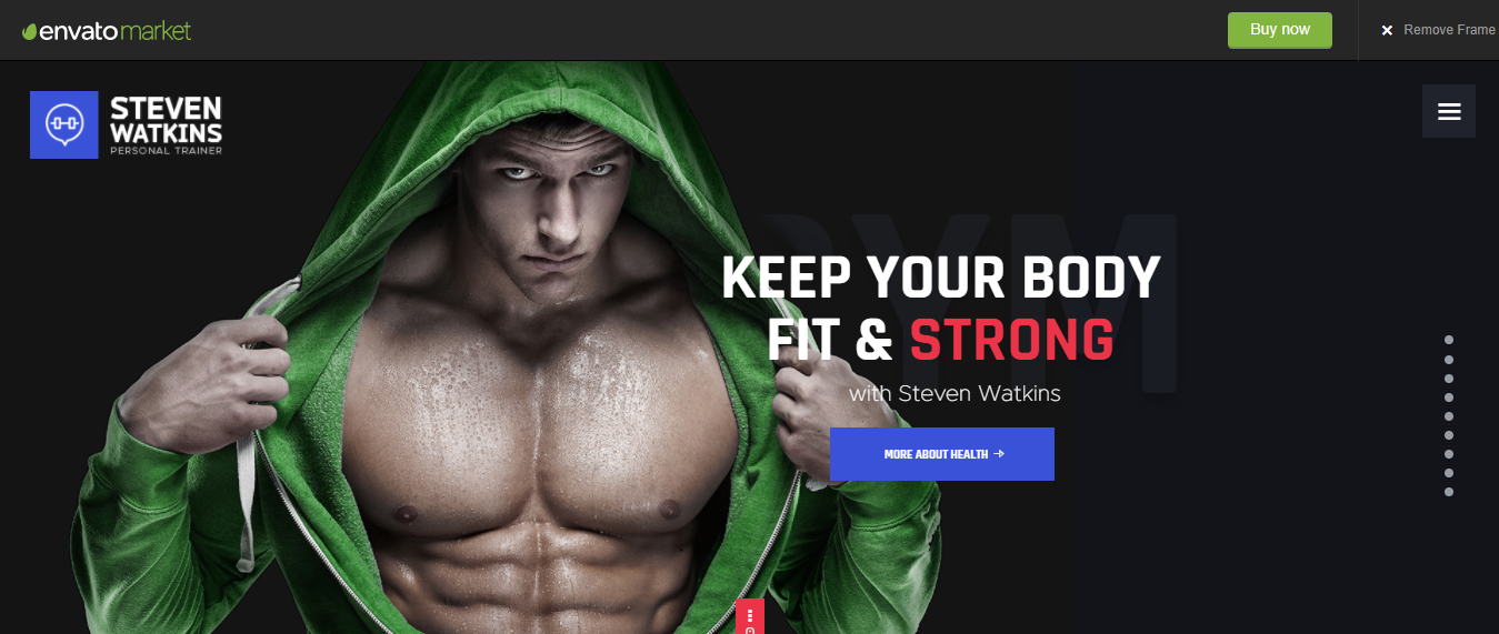 Personal Gym Trainer - WordPress Sports Theme