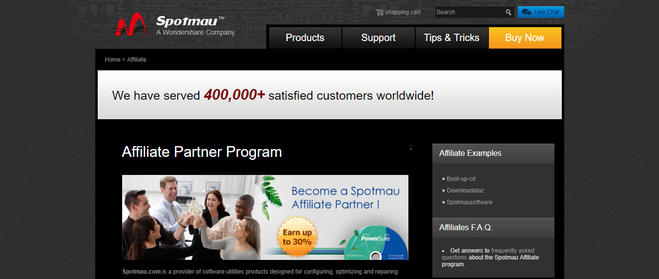 Software Affiliates - Spotmau