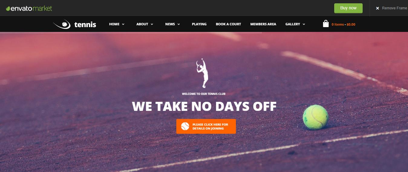Tennis Sport Club - WordPress Sports Theme For Club