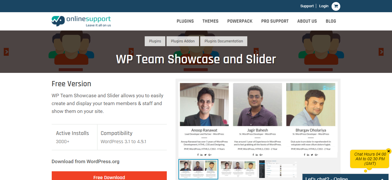 WP Team showcase and slider - Team Management WordPress Plugin