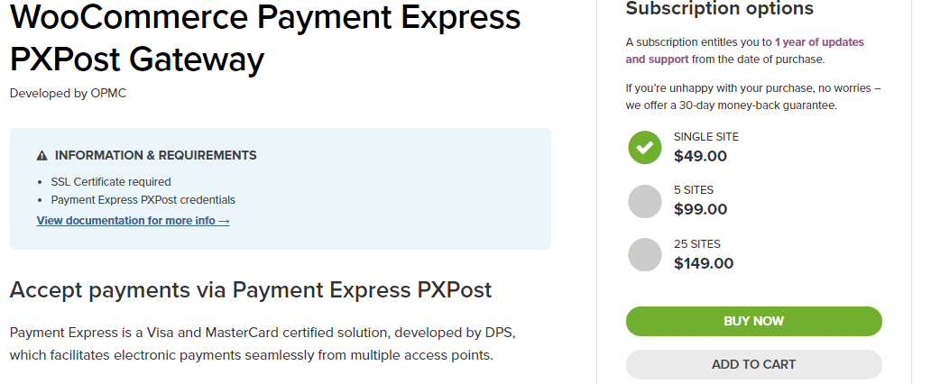 Payment Express PXPost Gateway