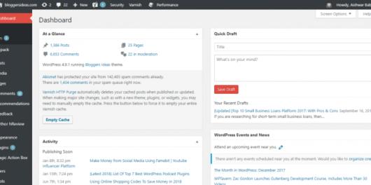 WordPress dashboard - Fix wordpress database error