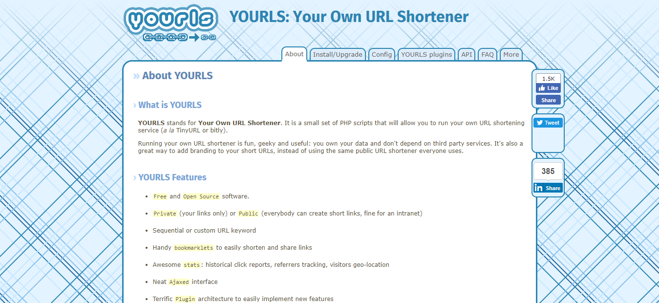 YOURLS Your Own URL Shortener