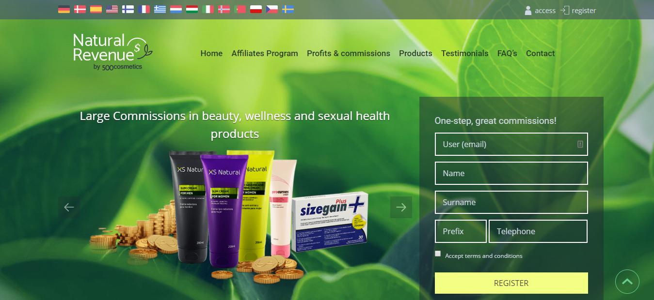 beauty affiliates platform - Natural Revenue