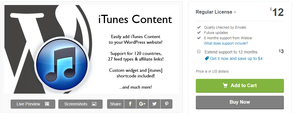 iTunes Content Plugin - iTunes Affiliate Program