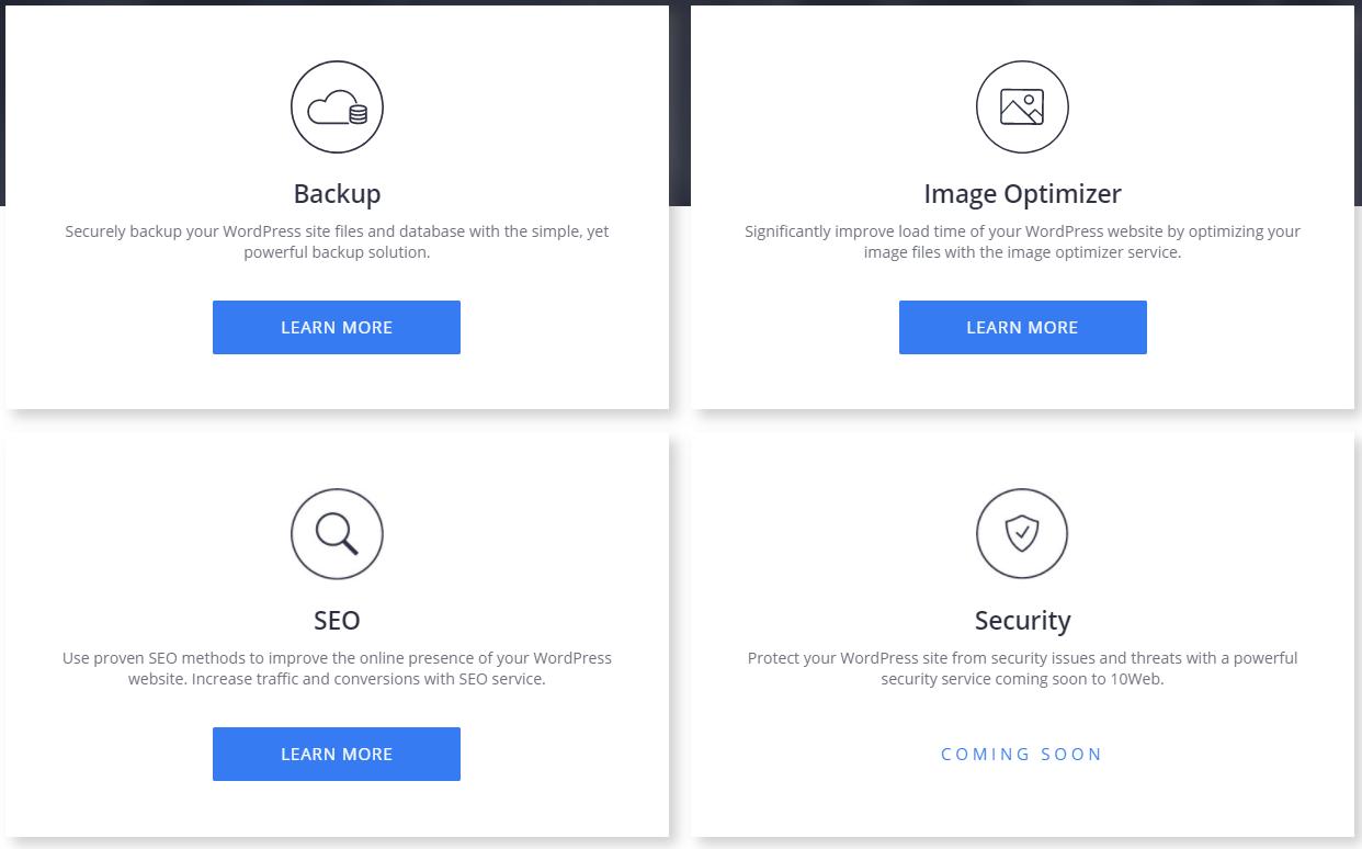 10web Review - Services