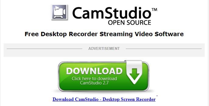 CamStudio- Screen Recording Software