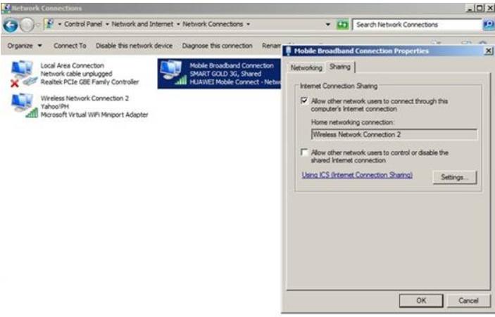 Change Adapter Settings- Create a Wi-Fi Hotspot using Command Prompt