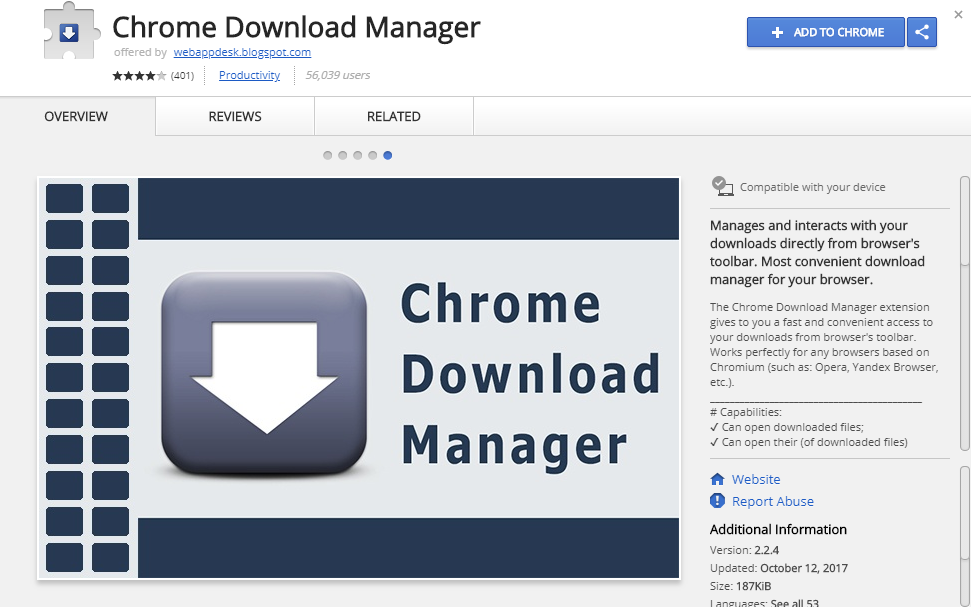 Chrome Download Manager Extension