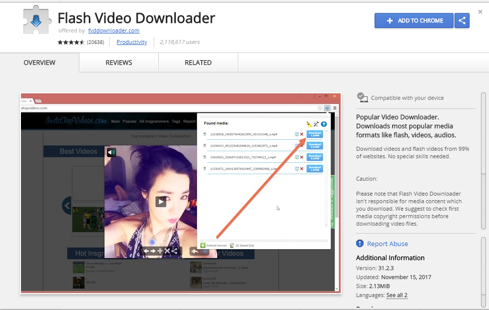 Flash Video Downloader- Download Manager Extension