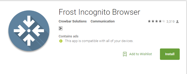 Frost- Anonymous Browsing Apps