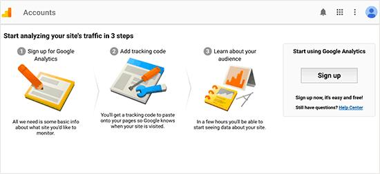 Google Analytics- Choosing account