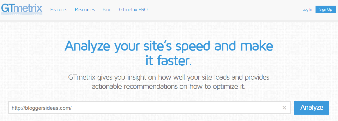 GTmetrix- Website Speed Test Tool
