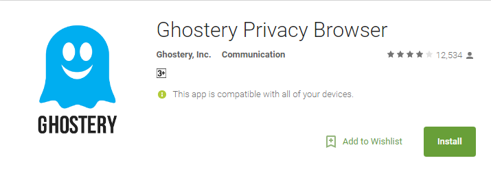 Ghoestry- Anonymous Browsing Apps