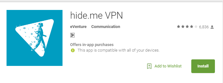 Hide.me- Anonymous Android Apps