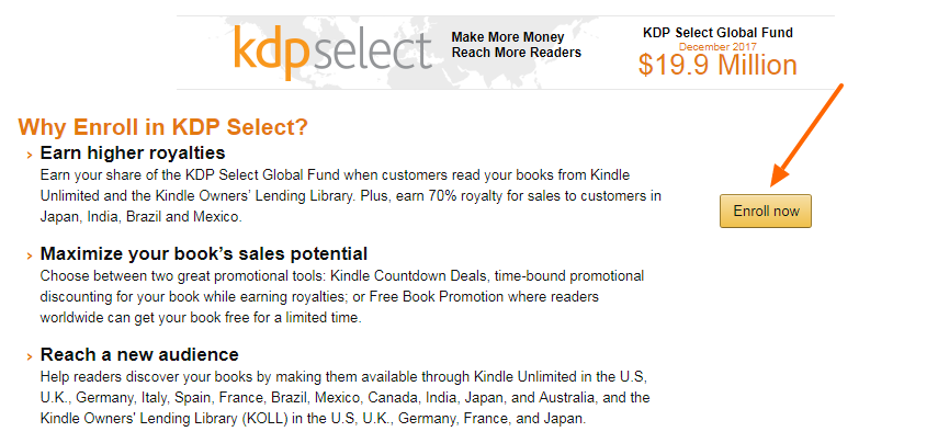 Kindle Direct Publishing- KDP Select