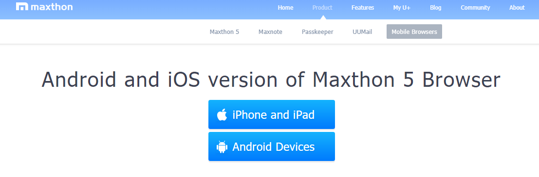 Maxthon5 Browser- Best Android Browser