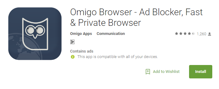 Omigo- Anonymous Browsing Apps