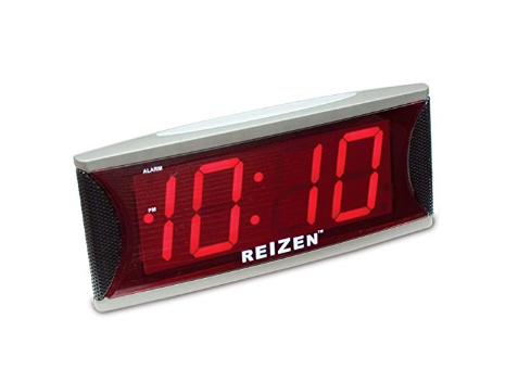 Reizen Jumbo Super Loud Alarm Clock for heavy sleepers