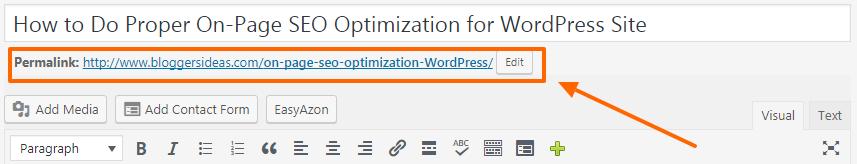 SEO Tips- WordPress Permalinks Structure