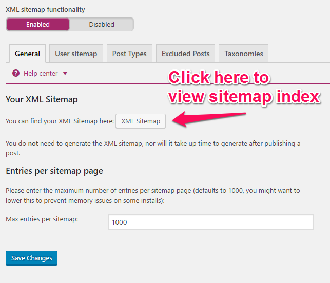 SEO Tips- View Sitemap