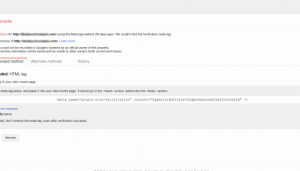 Google Search Console - Verify Ownership