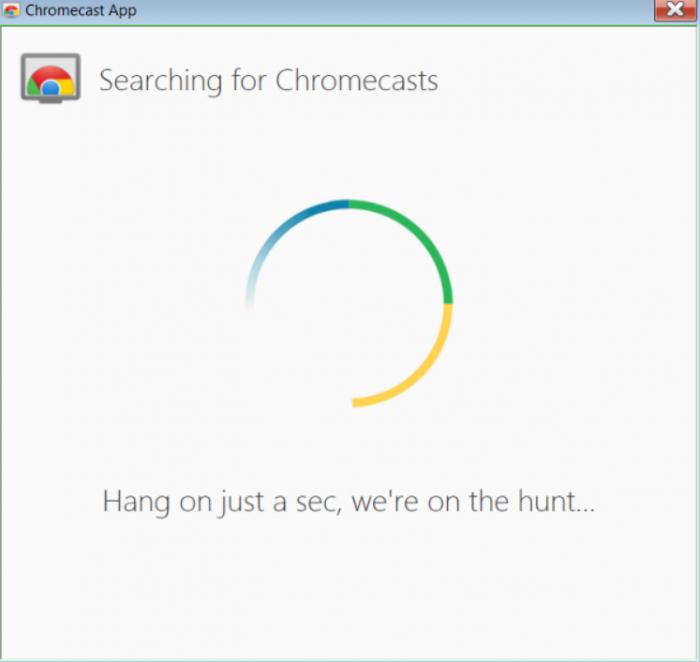 Searching Chromecast- set up Chromecast on Windows 7