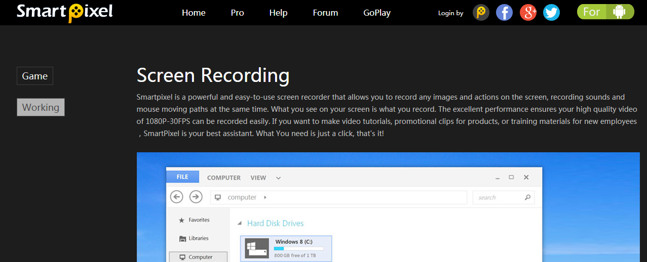 SmartPixel- Screen Recording Software