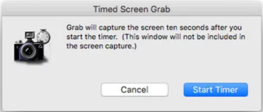 Timed screenshot- take screenshots on Mac