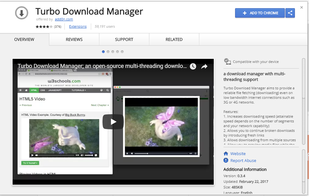 Turbo Download Manager Extension