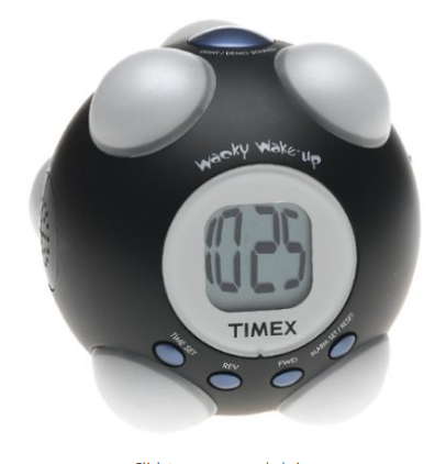 Wacky Wake-Up Alarm Clock for heavy sleepers