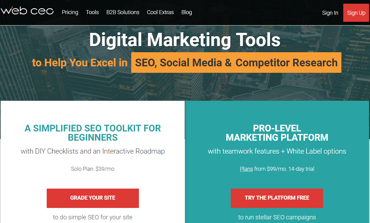 WebCEO- Best Backlinks Checker Tools
