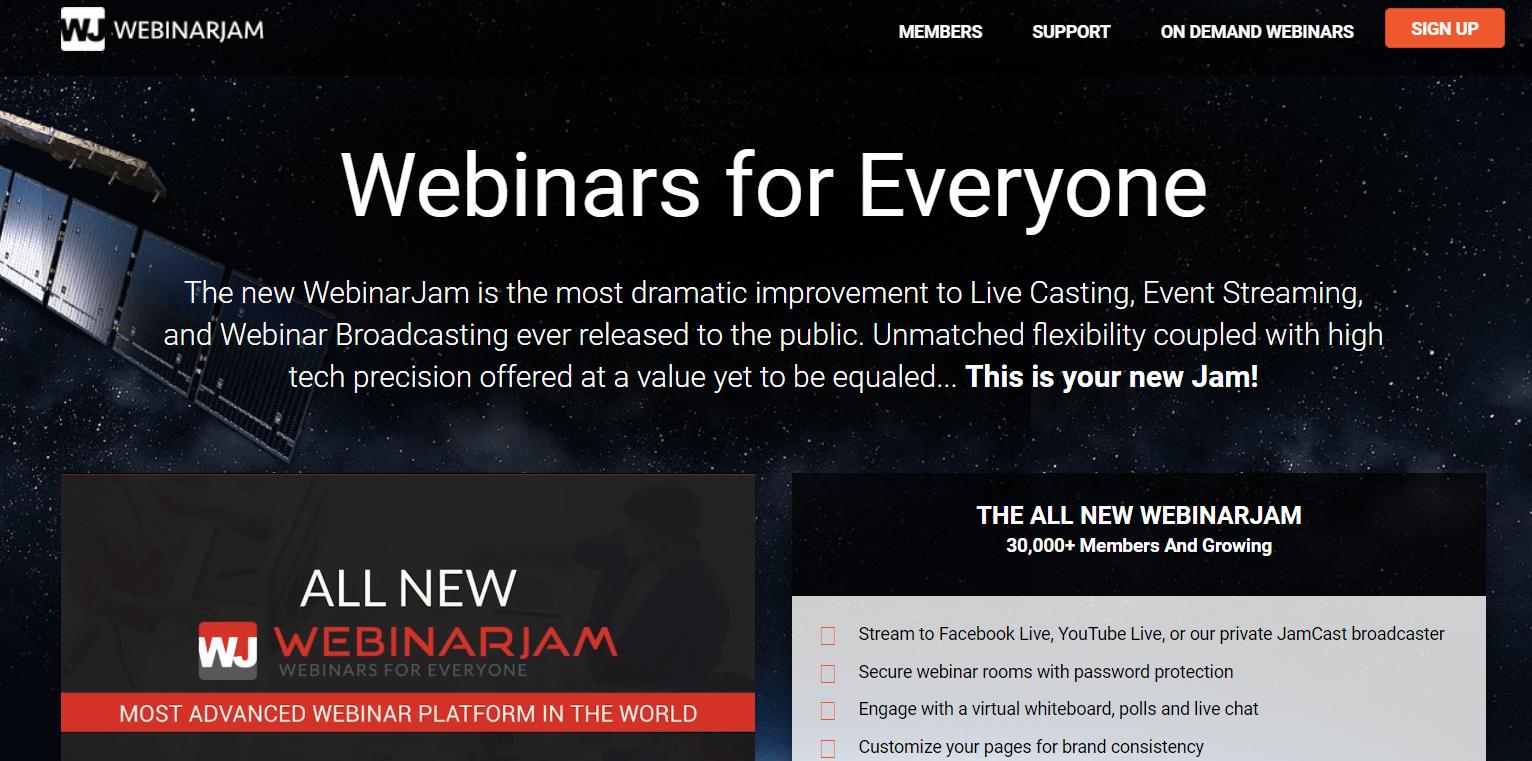 WebinarJam- Best Webinar Software
