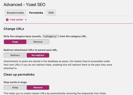 Yoast SEO Plugins-permalinks