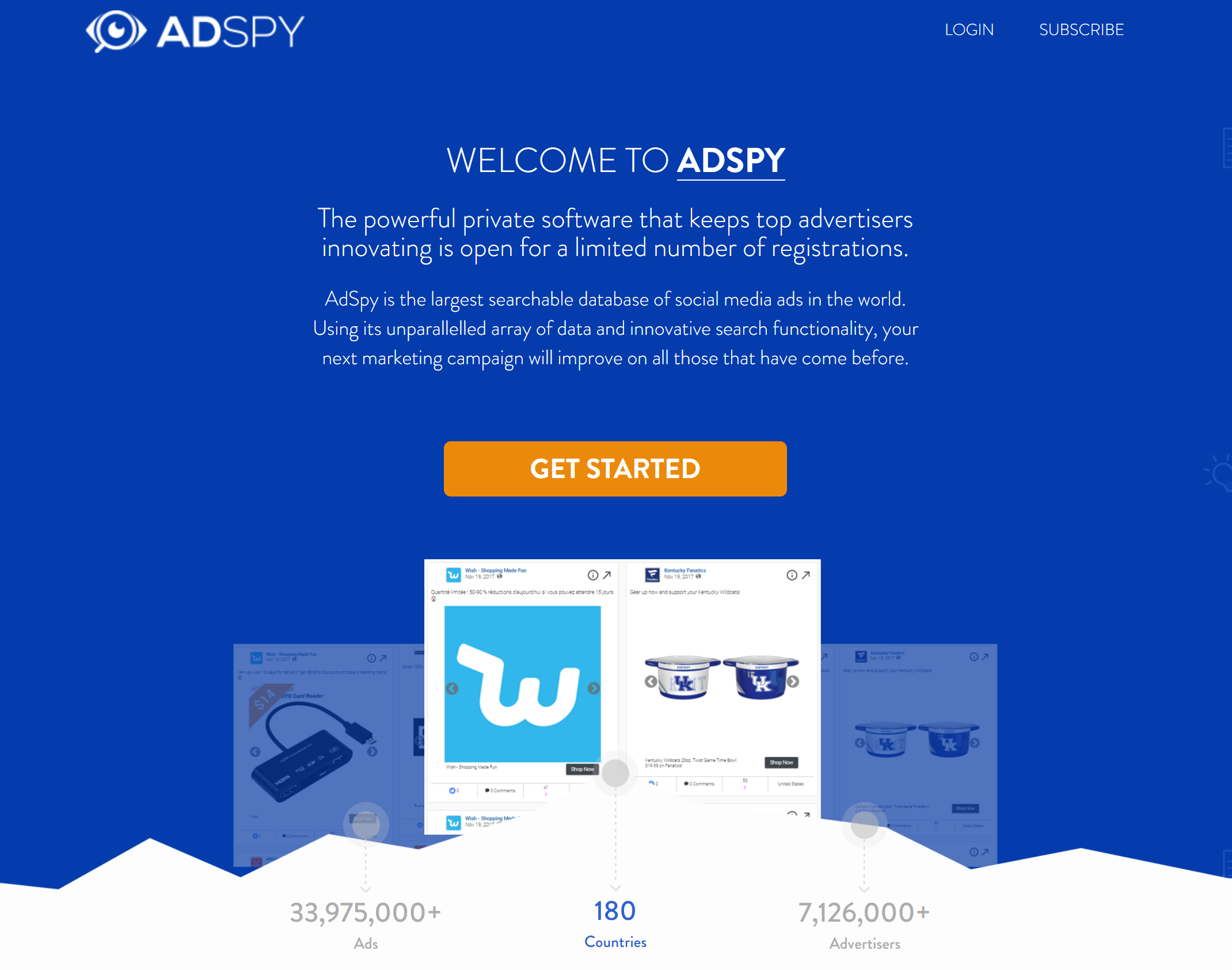 adspy facebook ad spy tool - find competitors facebook ads