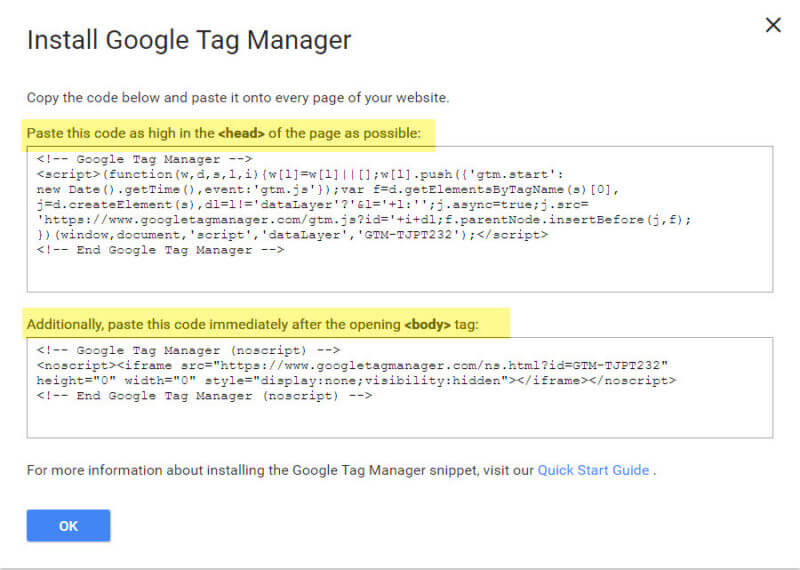 Google Tag Manager- add_the_snippet_code