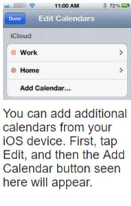 Add calendar- iOS calendar Syncing