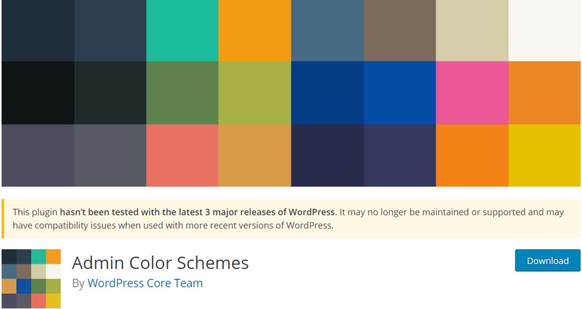 Admin Color Schemes — WordPress Admin Themes