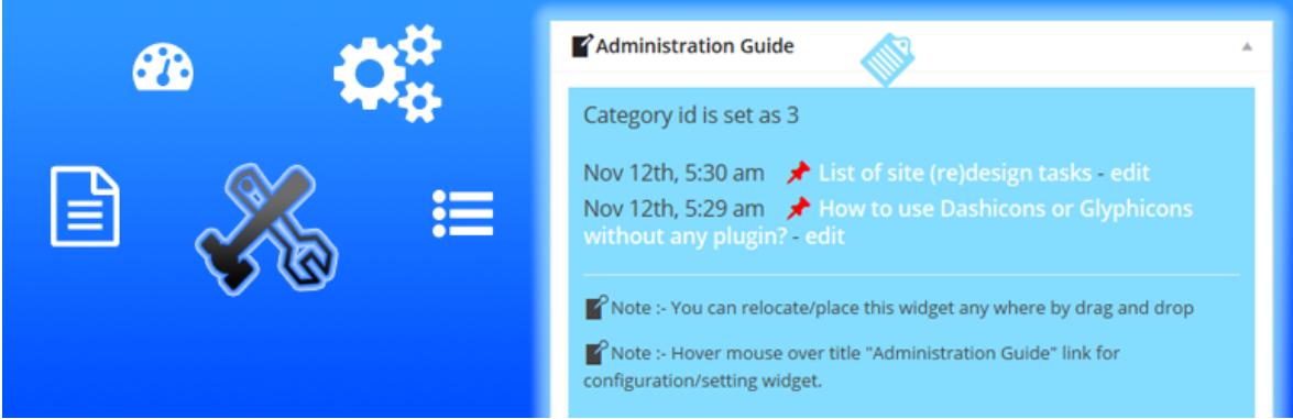 Admin Guide Dashboard Widget — WordPress Admin Dashboard Plugins