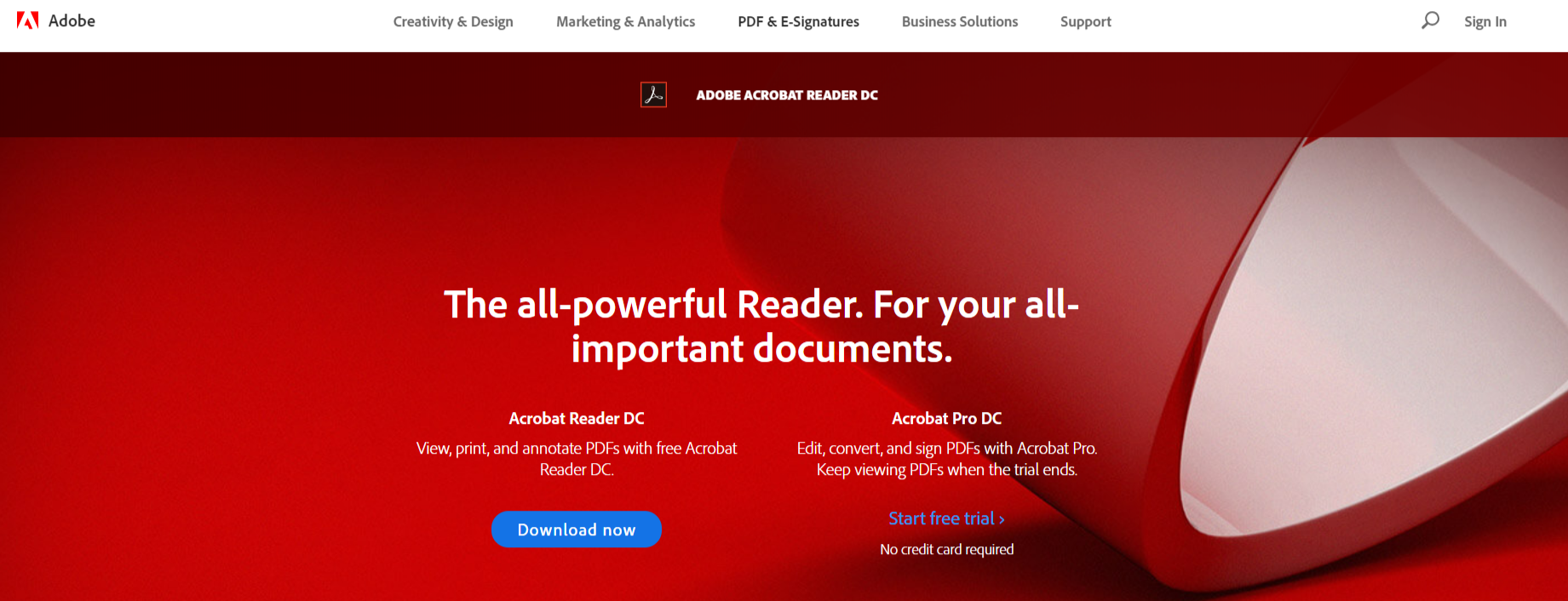 Adobe Acrobat Reader- PDF Reader for Windows OS