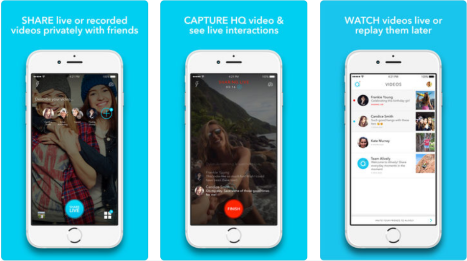 Alively Video Sharing- Live Streaming Apps